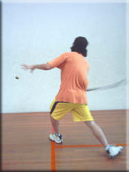 Forehand Squash lob technique