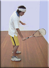Backhand Ball impact