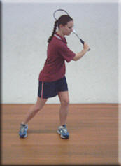 Forehand follow through