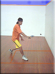 Open racket face on the backhand volley drop
