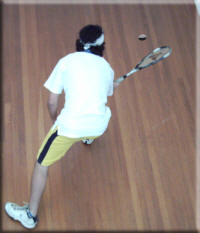 Front court Squash toss technique